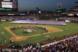Citizens Bank Park, the home of the Philadelphia Phillies, is No. 13 on the list. It costs an average of $73 to see a game. File. (AP Photo/Tom Mihalek)