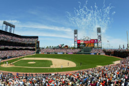 AT&T Park, home of the San Francisco Giants, comes in at No. 15 on the list with average cost of $70.83. File. (AP Photo/Eric Risberg)
