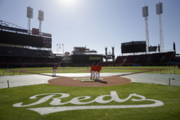Great American Ballpark, home of the Cincinnati Reds, is No. 27 on the list. Built in 2002 on the shore of the Ohio River, it costs $55.17 to see the Reds play at home. File. (AP Photo/John Minchillo)