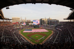 SunTrust Park, the home of the Atlanta Braves, is the newest stadium in baseball but it is also the second cheapest. The cost to watch a Braves game in Atlanta is $51. File. (AP Photo/David Goldman)