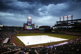 Coors Field, the home of the Colorado Rockies, is the cheapest stadium to watch a ballgame. The average cost to attend a game, plus food, beer and parking is $50. File. (AP Photo/Jack Dempsey)