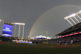 Kauffman Stadium, the home of the Kansas City Royals, comes in at No. 7 with an average cost of $77.67. File. (AP Photo/Ed Zurga)