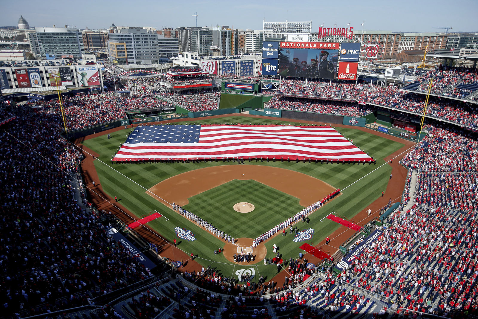 Nationals Park cracked the 10 most expensive parks. It comes in at No. 8 with an average cost of $77.50. (AP Photo/Andrew Harnik, File)