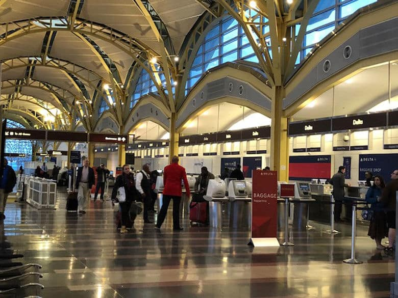 The terminal at Reagan National Airport is seen. (WTOP/Melissa Howell)