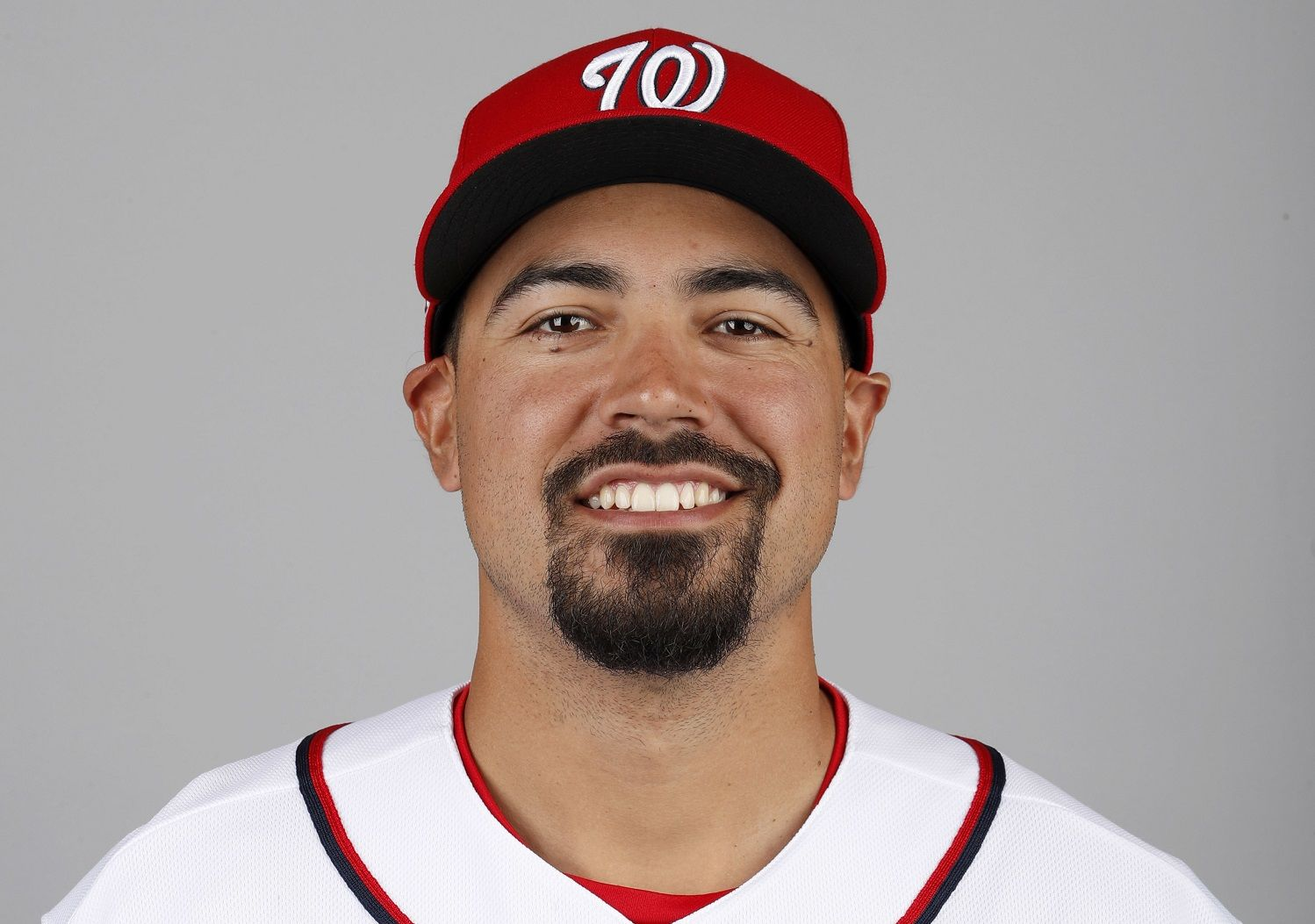 This is a 2018 photo of Anthony Rendon of the Washington Nationals baseball team. This image reflects the Nationals active roster as of Feb. 22, 2018 when this image was taken. (AP Photo/Jeff Roberson)