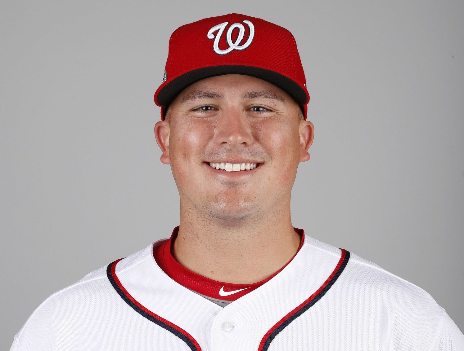 This is a 2018 photo of Sammy Solis of the Washington Nationals baseball team. This image reflects the Nationals active roster as of Feb. 22, 2018 when this image was taken. (AP Photo/Jeff Roberson)
