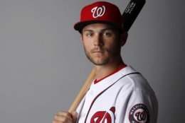 This is a 2018 photo of Trea Turner of the Washington Nationals baseball team. This image reflects the Nationals active roster as of Feb. 22, 2018 when this image was taken. (AP Photo/Jeff Roberson)