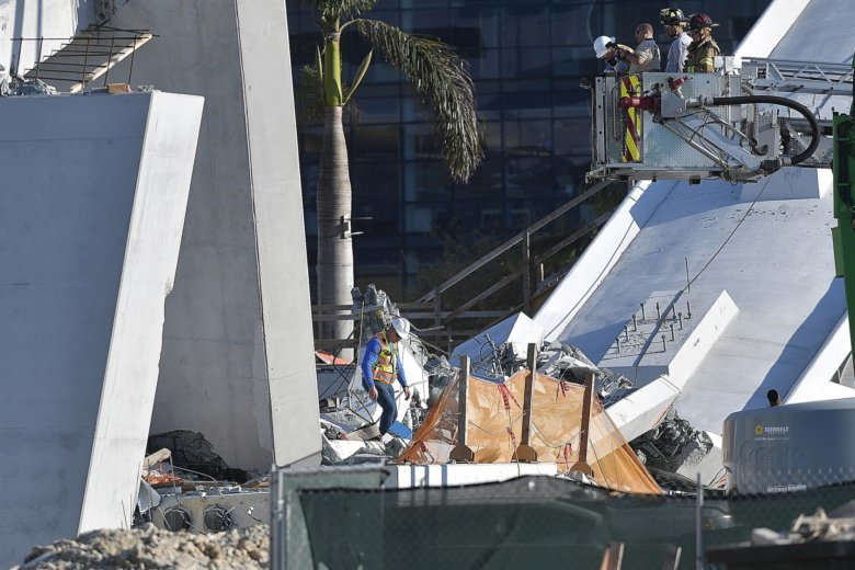 Hope For Survivors Fades In Rubble Of Florida Bridge Collapse