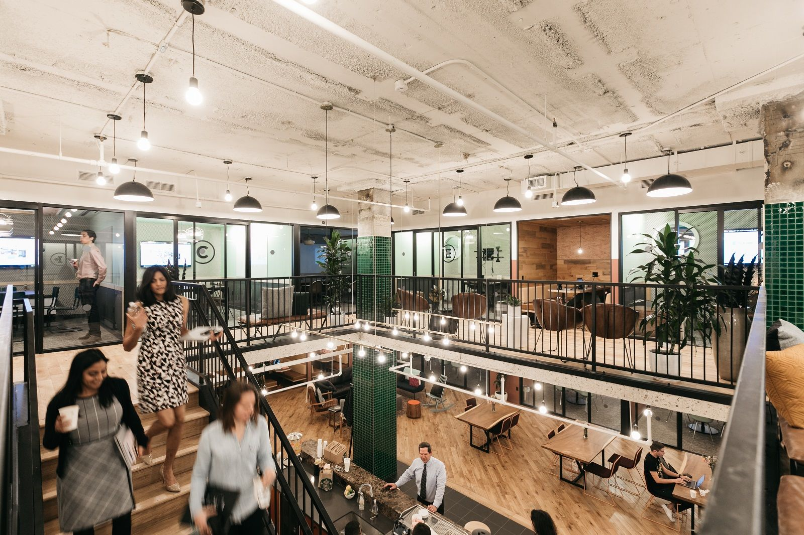 This photo shows a stock photo of a WeWork space. (Courtesy WeWork)