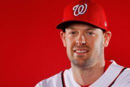 WEST PALM BEACH, FL - FEBRUARY 22:  Matt Wieters #32 of the Washington Nationals poses for a photo during photo days at The Ballpark of the Palm Beaches on February 22, 2018 in West Palm Beach, Florida.  (Photo by Kevin C. Cox/Getty Images)