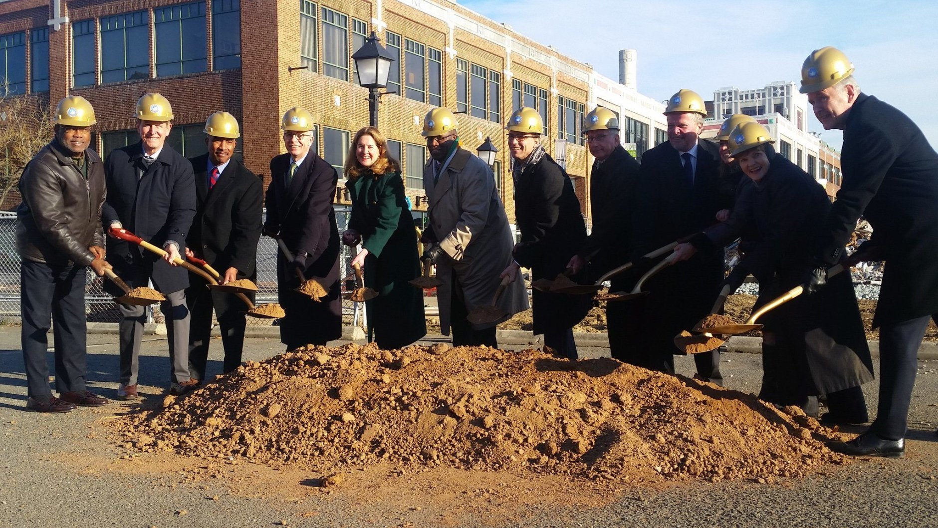 Alexandria's Waterfront Plan in Alexandria, Virginia, has been years in the making and the groundbreaking ceremony on Saturday was a major step in turning the plan into reality. (WTOP/Kathy Stewart)