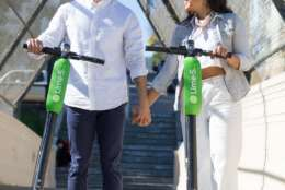 The scooters, called Lime-S, are available throughout the District.  (Photo credit: LimeBike)