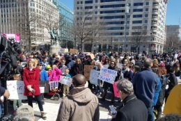 Protesters in D.C. (Courtesy Olivia Prieto)