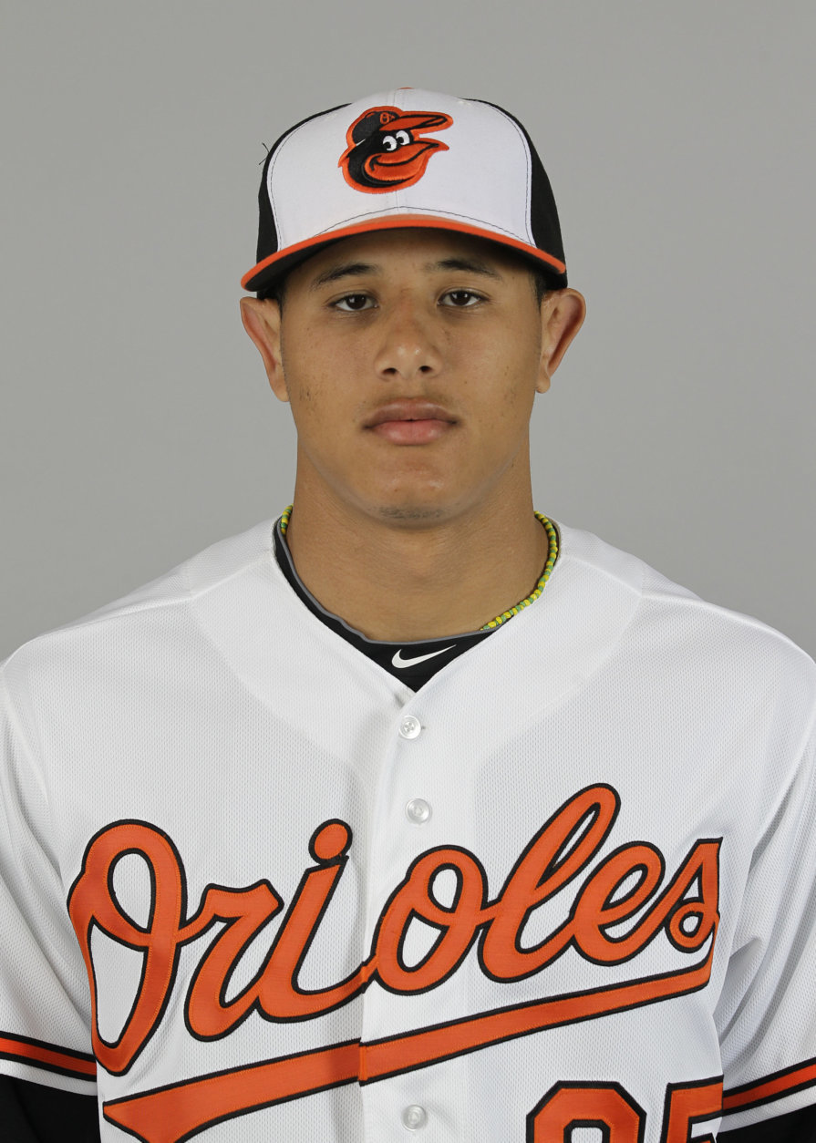This is a 2012 photo of Manny Machado of the Baltimore Orioles baseball team. This image reflects the Orioles active roster as of Thursday, Mar. 1, 2012 when this image was taken. (AP Photo/David Goldman)