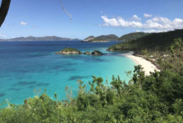 The beach at Trunk Bay, St. John, U.S. Virgin Islands. (WTOP/Jeff Clabaugh)