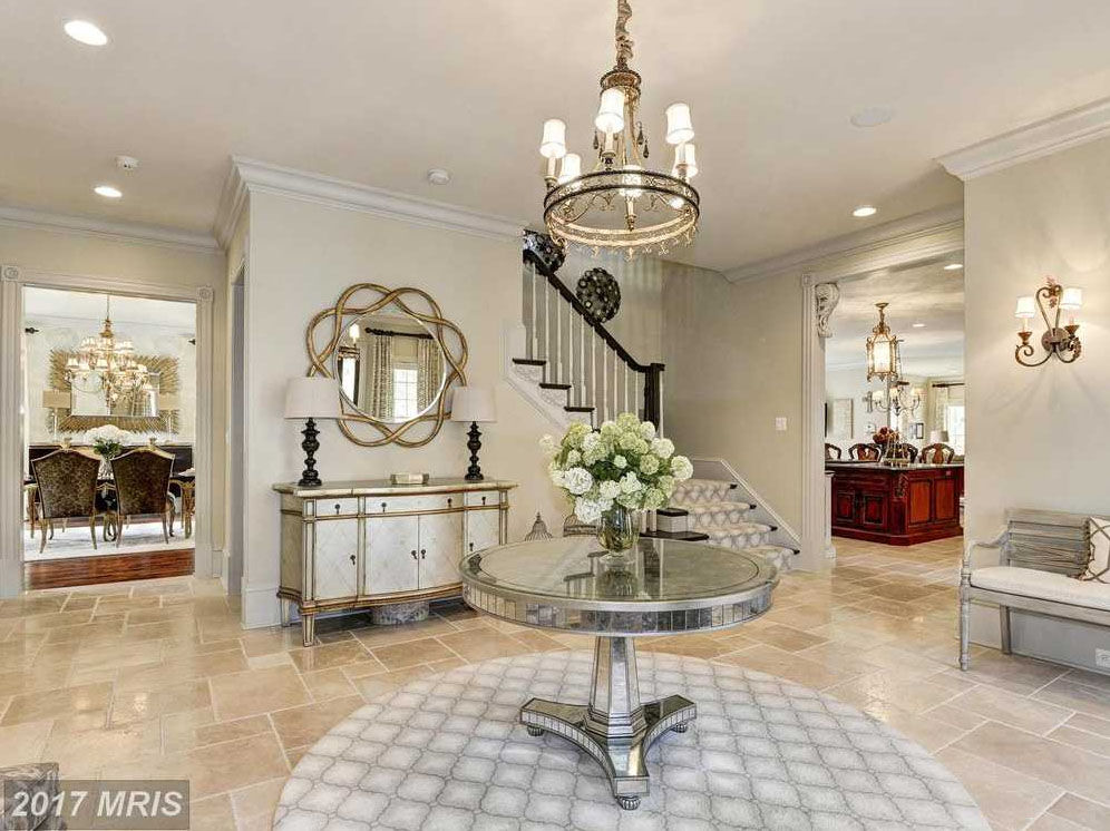 Inside the Leesburg mansion, which is listed for $2.69 million. (Courtesy Century 21)