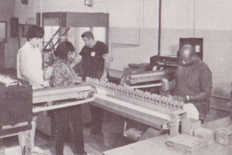The instantly recognizable pen has been produced by blind or sight-impaired workers for its entire 50-year history. In this photo, workers in in the 1960s manufacture some of the first batches of the pen. (Courtesy National Industries for the Blind)