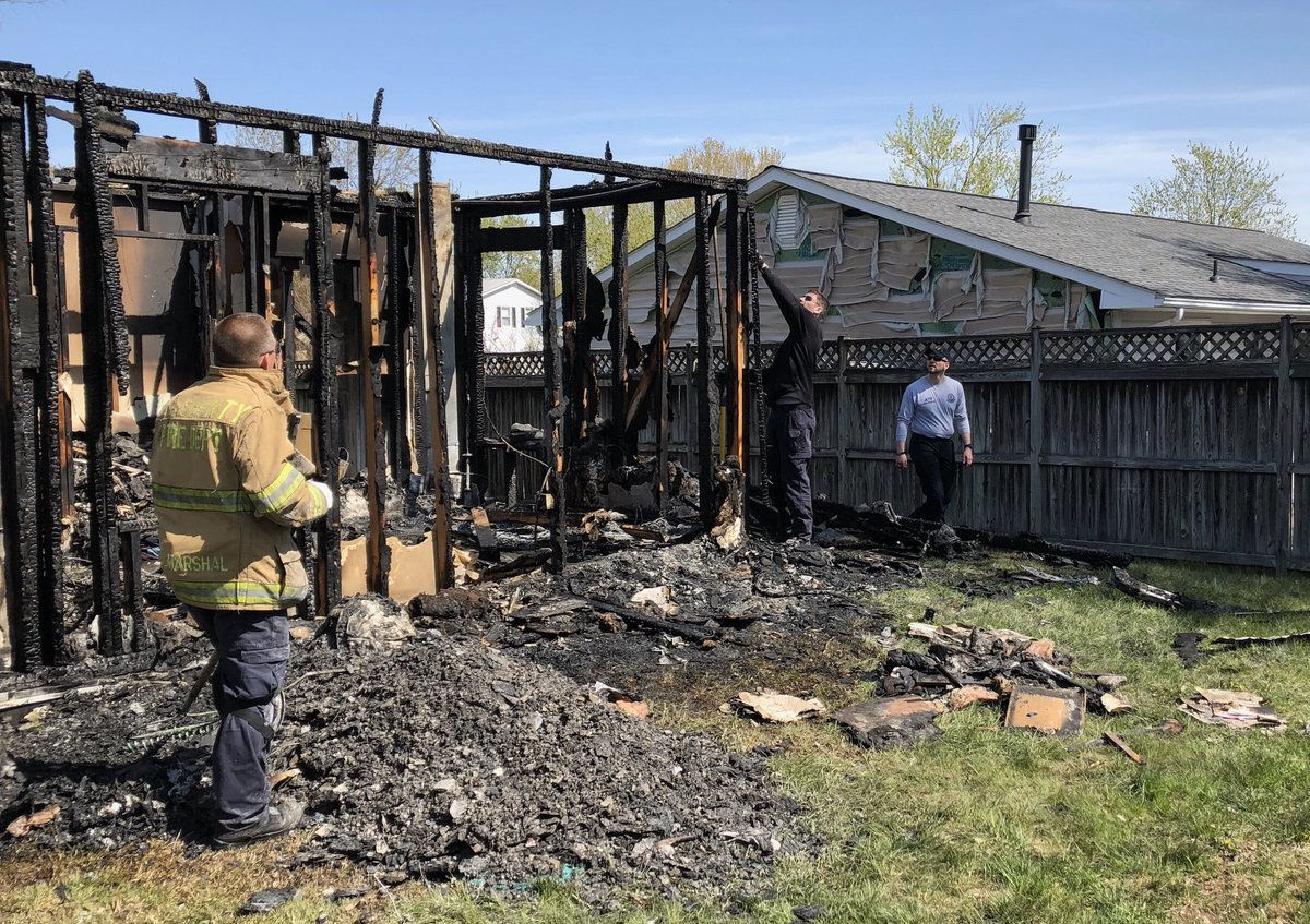 The fire in the house on Stone Hearth Road in Severn, Maryland, broke out late Saturday night. Two people who died were residents of the group home operated by Arundel Lodge. One was an employee. (Courtesy Baltimore ATF)