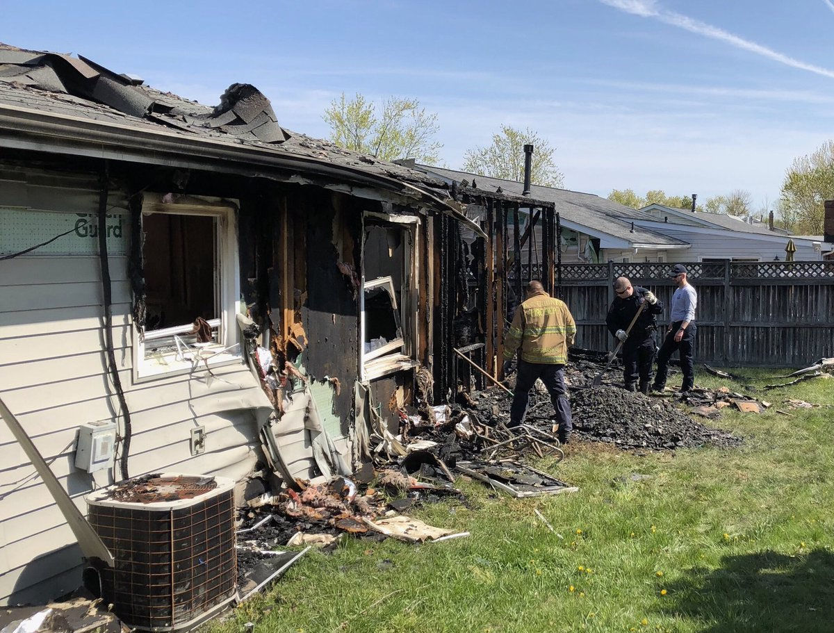 The Severn, Maryland, home had working smoke alarms. Four people inside the house were able to escape. (Courtesy Baltimore ATF)