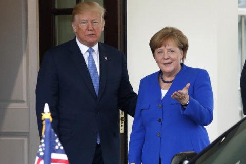 PHOTOS: Trump welcomes German Chancellor Angela Merkel to the White House