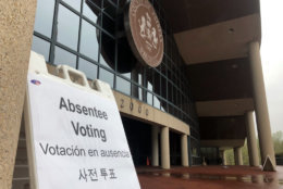 Absentee voting opened Friday in Virginia. (WTOP/Max Smith)