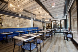At All Set (8630 Fenton St., Silver Spring), Streetsense complemented the coastal New England cuisine with a contemporary nautical look. (Courtesy Streetsense/Wayne E. Chinnock)