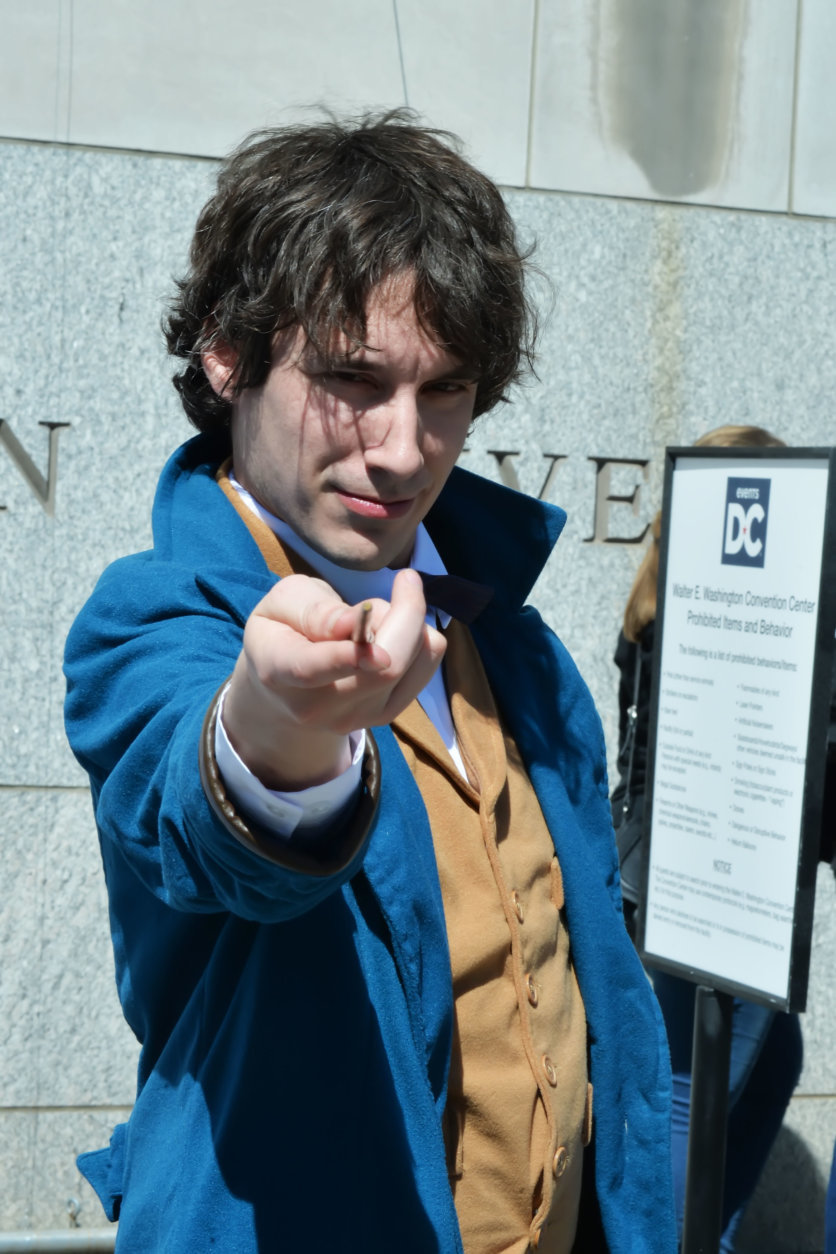 "A man dressed as the character Newt Scamander from the movie, ""Fantastic Beasts and Where to Find Them"" arrives at Awesome Con 2018 at the Walter E. Washington Convention Center in Washington, D.C. (Shannon Finney)"