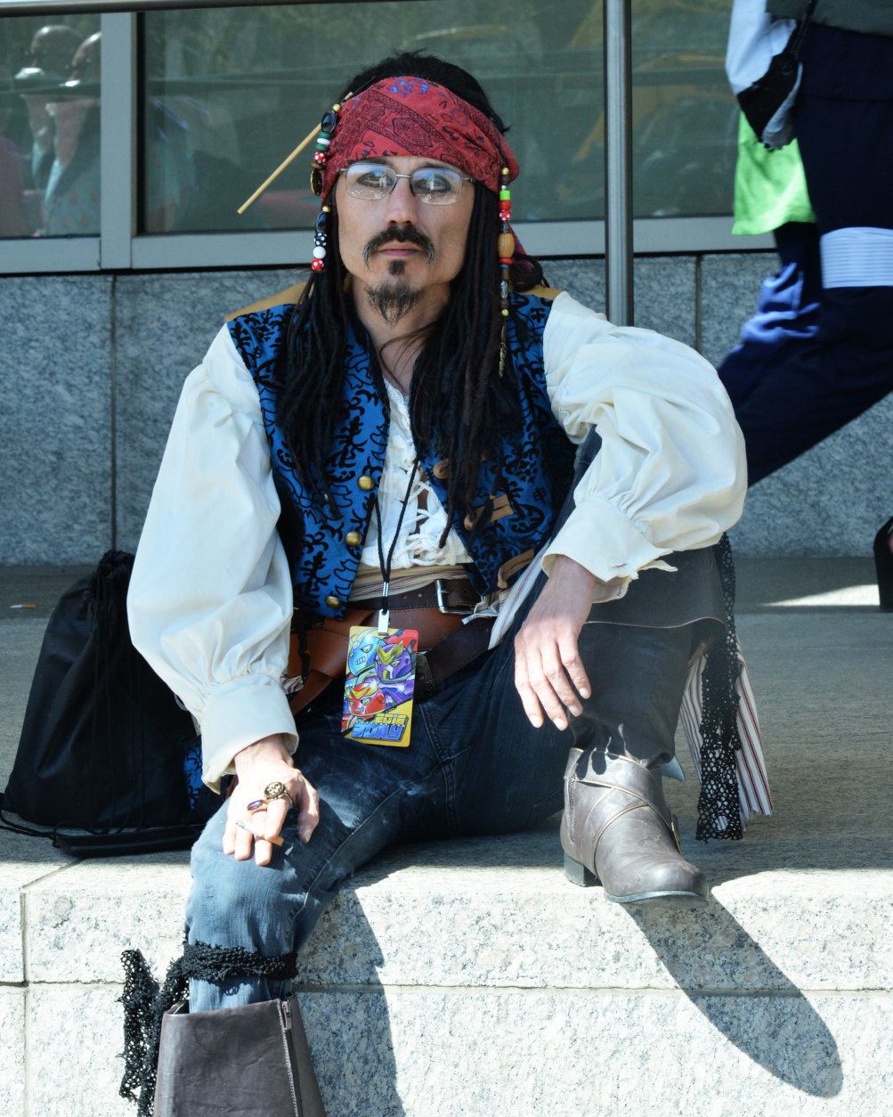 "A man dressed as the character Captain Jack Sparrow from the ""Pirates of the Caribbean"" movie series at Awesome Con 2018 at the Walter E. Washington Convention Center in Washington, D.C. (Shannon Finney)"