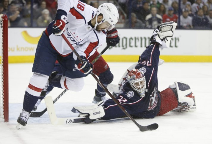 738531e6724 Caps top Blue Jackets 4-1 to even series at 2 games each