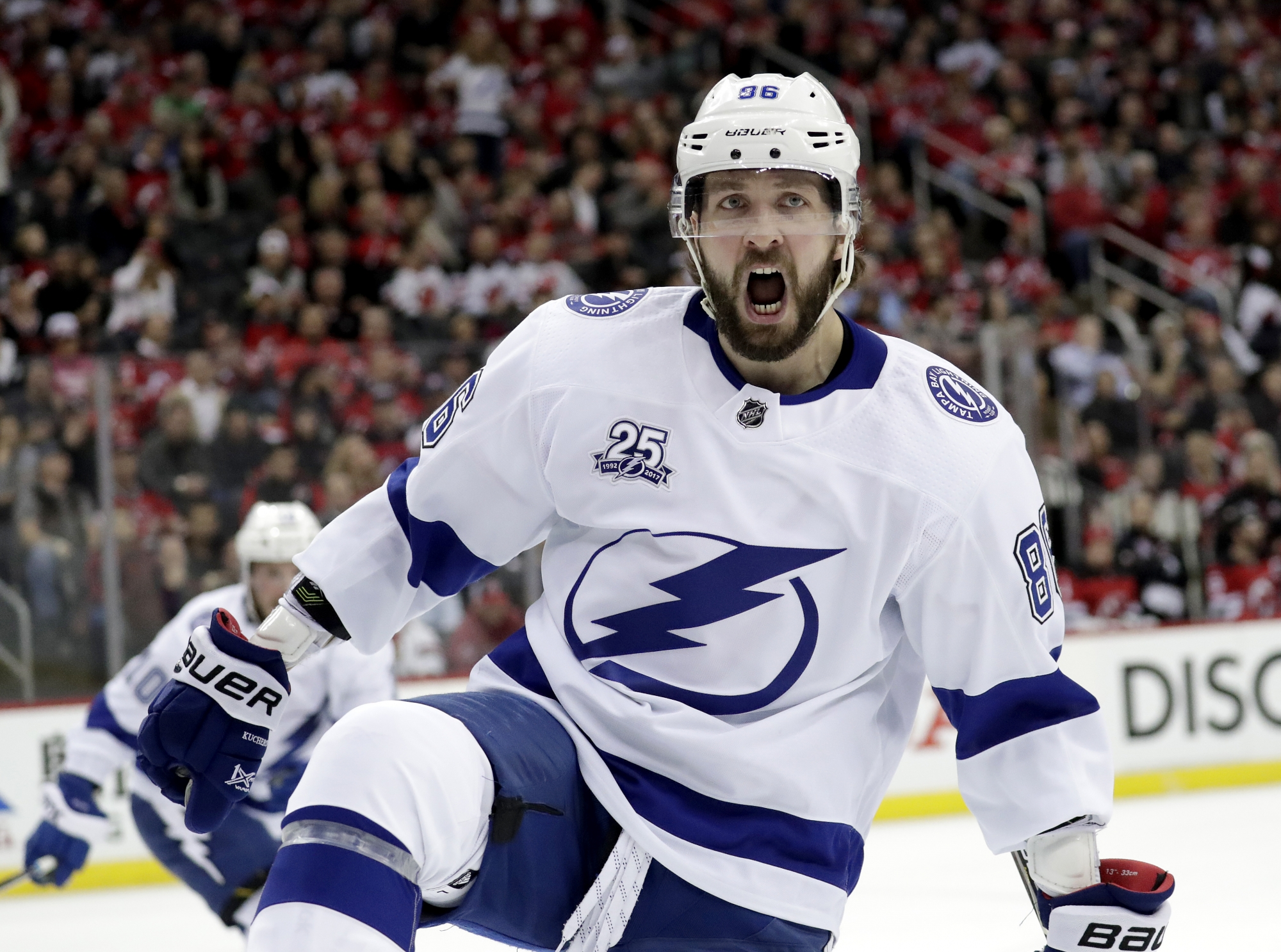 kucherov leads way as lightning take 3 1 lead over devils wtop