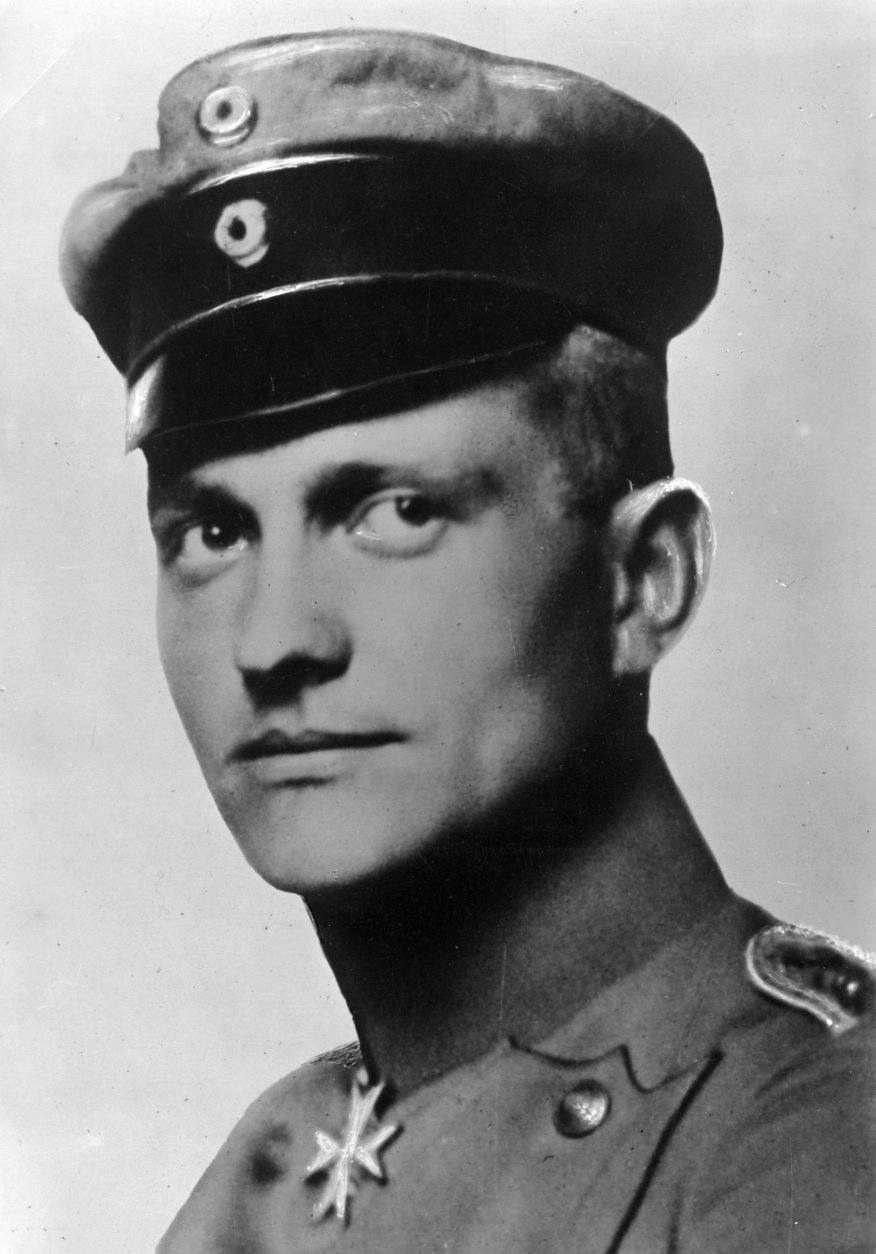 FILE - Undated portrait shows Manfred von Richthofen, the most successful German fighter pilot during WW I with 80 downed planes. Manfred von Richthofen, also known as the Red Baron, was killed in aerial combat on April 21, 1918. A Polish historian says he made a surprising find when poring through World War I archives the death certificate of Manfred von Richthofen.  Maciej Kowalczyk said Monday Dec. 7, 2009, that he found the file last month while going through old German archives in the western Polish city of Ostrow Wielkopolski. (AP Photo, File)