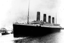 The liner Titanic leaves Southampton, England, on her maiden voyage Wednesday, April 10, 1912. (AP photo)
