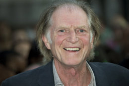 """FILE - This July 10, 2013 file photo shows actor David Bradley at the World Premiere of World's End at a central London cinema in Leicester Square. From the hit British series """"Broadchurch"""" to """"Game of Thrones"""" to """"An Adventure in Space and Time"""" about the creation of """"Dr Who"""", Bradley has had a busy year.  Bradley attended the BBC America TCA panel Thursday, July 25, to promote his role as, William Hartnell, the first actor to play Dr. Who, in a TV movie called """"An Adventure in Space and Time.""""  It will air in November coinciding with the 50th Anniversary of """"Dr Who.""""  (Photo by Joel Ryan/Invision/AP, File)"""
