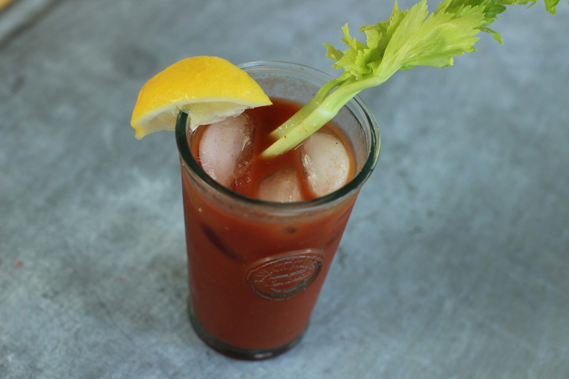 This June 22, 2015 photo shows a bloody Mary with Korean gochujang in Concord, N.H. Gochujang - a thick chili paste - is made from chili peppers, rice, fermented soy beans and salt. (AP Photo/Matthew Mead)