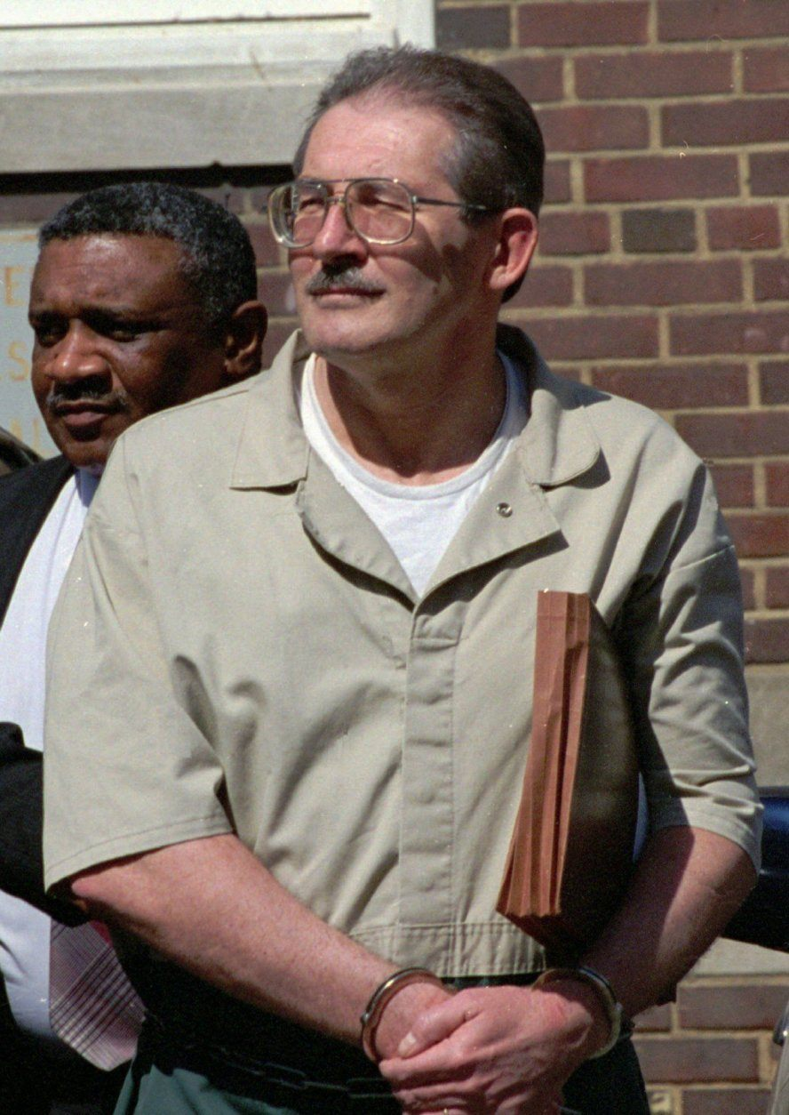 ** FILE ** In this April 28, 2994 file photo, former  CIA agent Aldrich Ames leaves federal court in Alexandria, Va. Ames beat the polygraph test twice and now the Defense Intelligence Agency is nearly tripling its arsenal of lie detectors in an attempt to polygraph every one of its 5,700 prospective and current employees every year. Polygraphy as a screening tool, however, is not fool proof. The test gives a high rate of false positives on innocent people, and guilty testers can be trained to beat the system. (AP Photo/Denis Paquin, File)