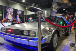 "The DeLorean from ""Back to the Future."" (WTOP/Will Vitka)"