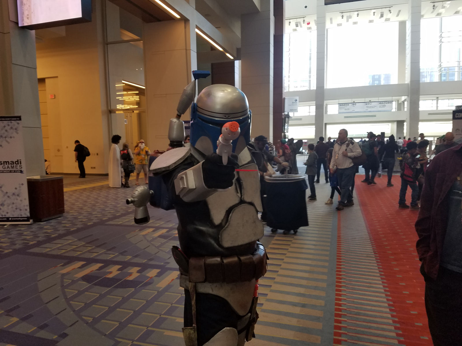 "A man dressed as Jango Fett from the ""Star Wars"" series. (WTOP/Will Vitka)"