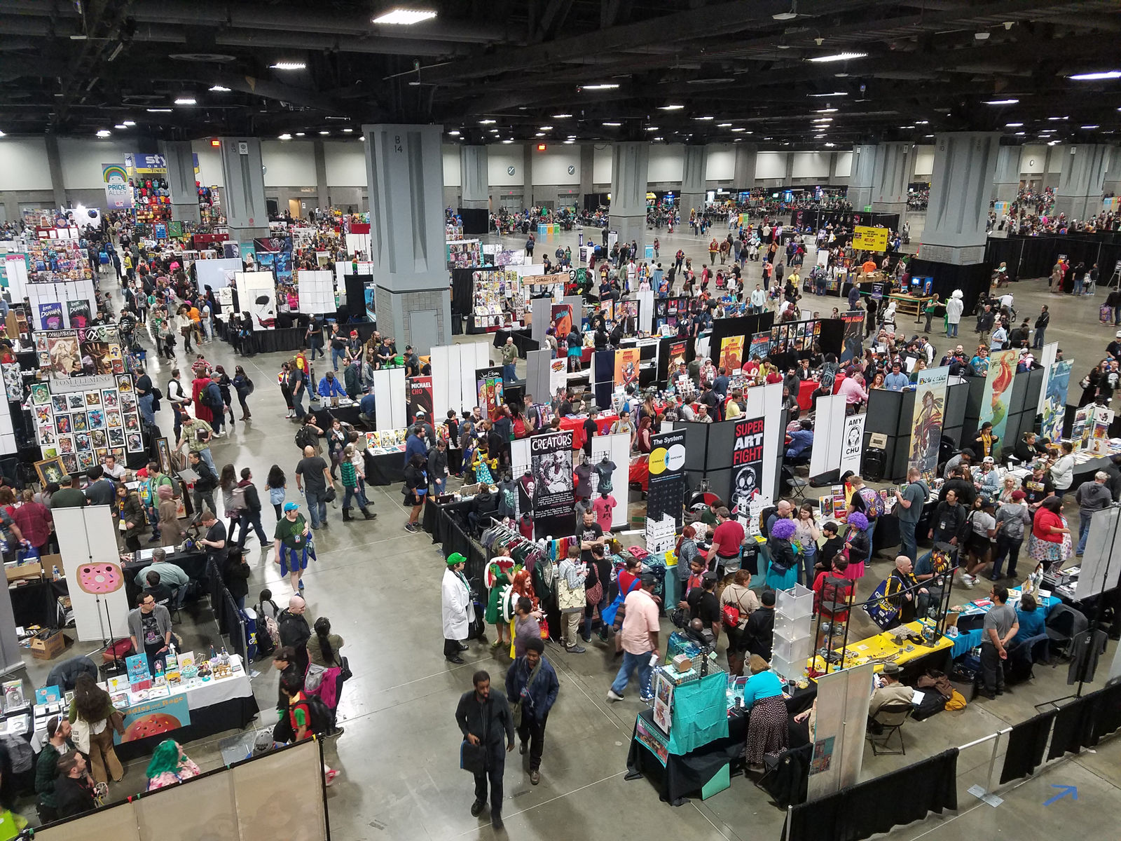Artists and vendors at Awesomecon 2018. (WTOP/Will Vitka)