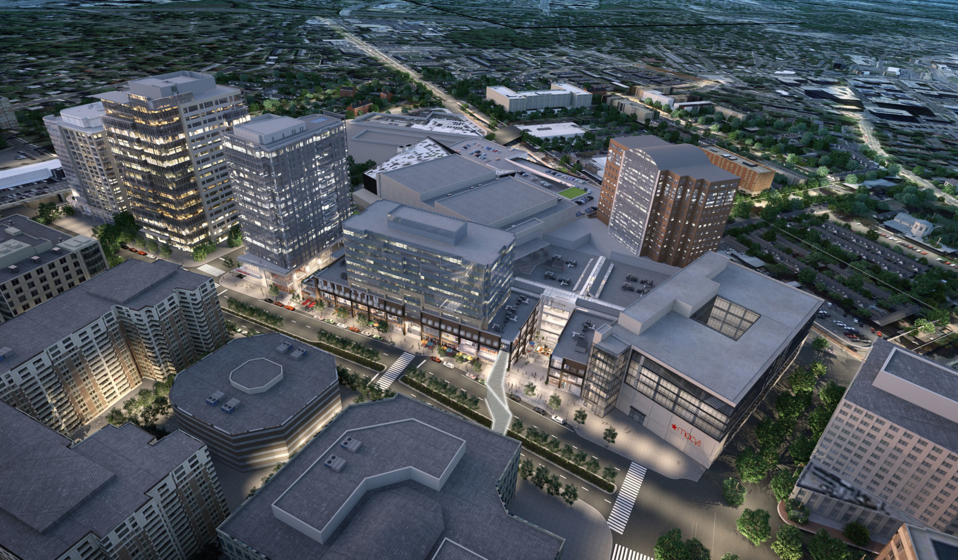 Ballston Quarter will also include Quarter Market, a 25,000-square-foot food hall that will eventually have 18 local vendors. (Courtesy Forest City)