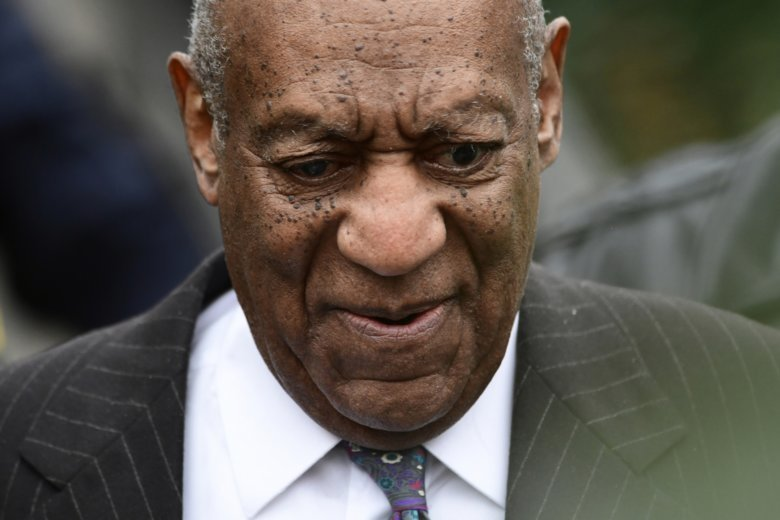 Bill Cosby leaves his sexual assault trial at the Montgomery County Courthouse Monday