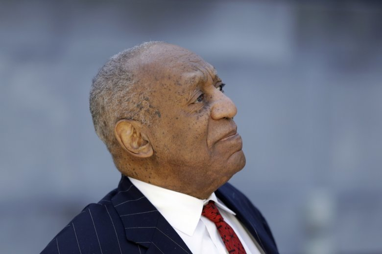 Bill Cosby departs after his sexual assault trial, Friday, April 20, 2018,  at the Montgomery County Courthouse in Norristown. (AP Photo/Matt Slocum)