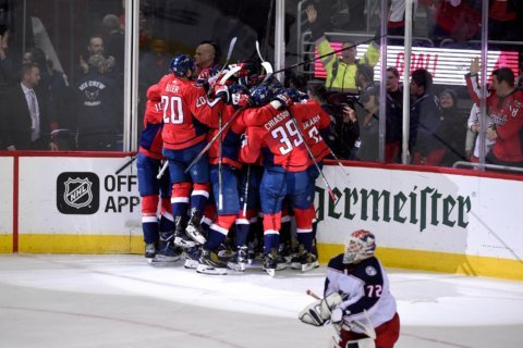 Caps beat Blue Jackets 6-3, advance to Eastern Conference Semifinals