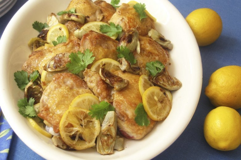 Kitchenwise Serve Baked Chicken Thighs With Lemon Pickles Wtop
