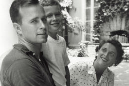 374942 07: (FILE PHOTO)  George W. Bush (C) poses with father George Bush and his mother Barbara Bush in Rye, New York, summer 1955. George W. Bush is currently campaigning for the Republican party for the presidential election in November 2000.  (Photo by Newsmakers)