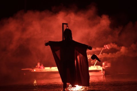 Burning effigy of Judas an Easter tradition in Greek town