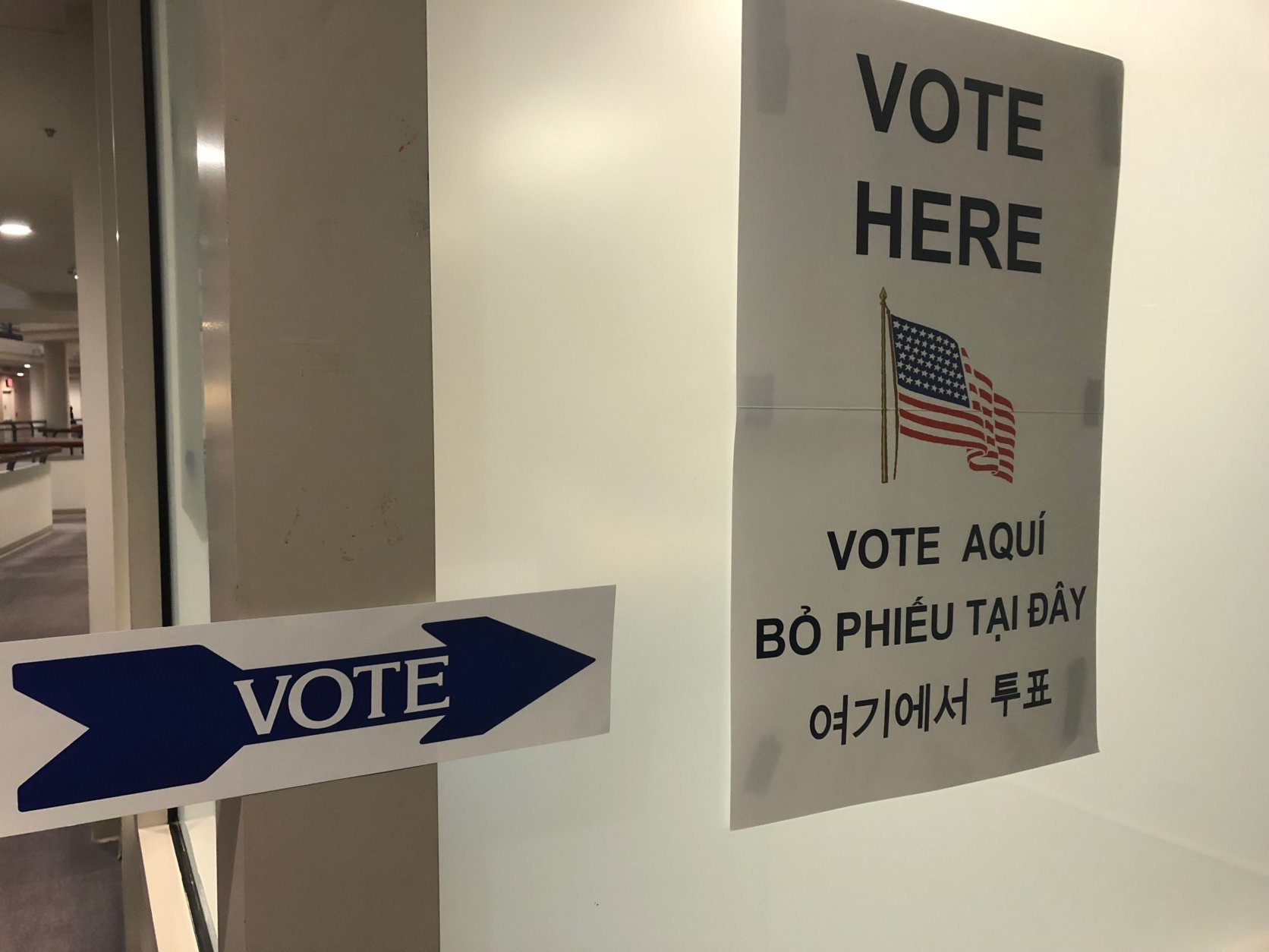 Virginia voters do not register by party, and can choose whether to vote in a Republican or Democratic primary. Voters may not choose both. (WTOP/Max Smith)