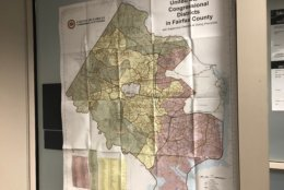 The 10th District covers 49 polling locations in Fairfax County plus all or parts of Loudoun, Clarke, Frederick and Prince William counties and the cities of Manassas, Manassas Park and Winchester. (WTOP/Max Smith)
