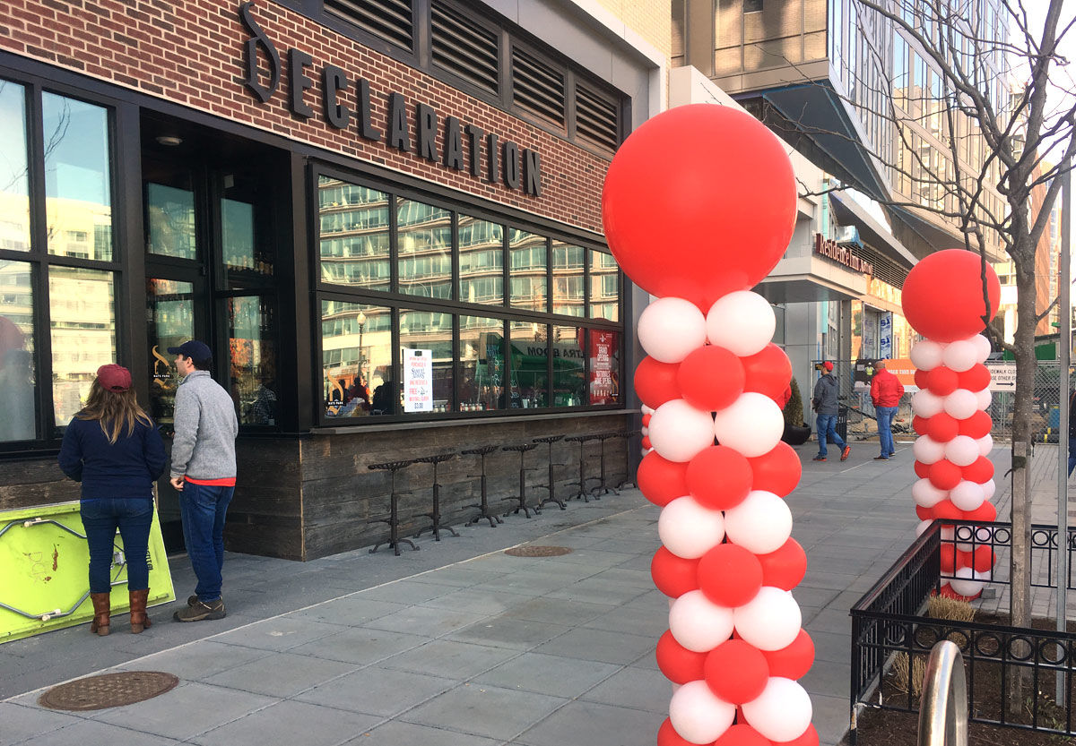 There are new pop-up and permanent food and drink options around Nats Park, and baseball fans got to see what the area now offers during the season opener Thursday, April 5, 2018. (WTOP/Mike Murillo)