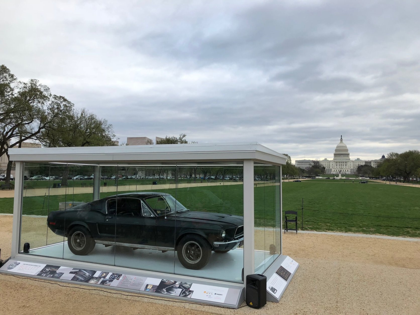 """""""The Mustang is one of the important cars of all time, and this is the most famous Mustang,"""" said Historic Vehicle Association President Mark Gessler. (WTOP/John Aaron)"""