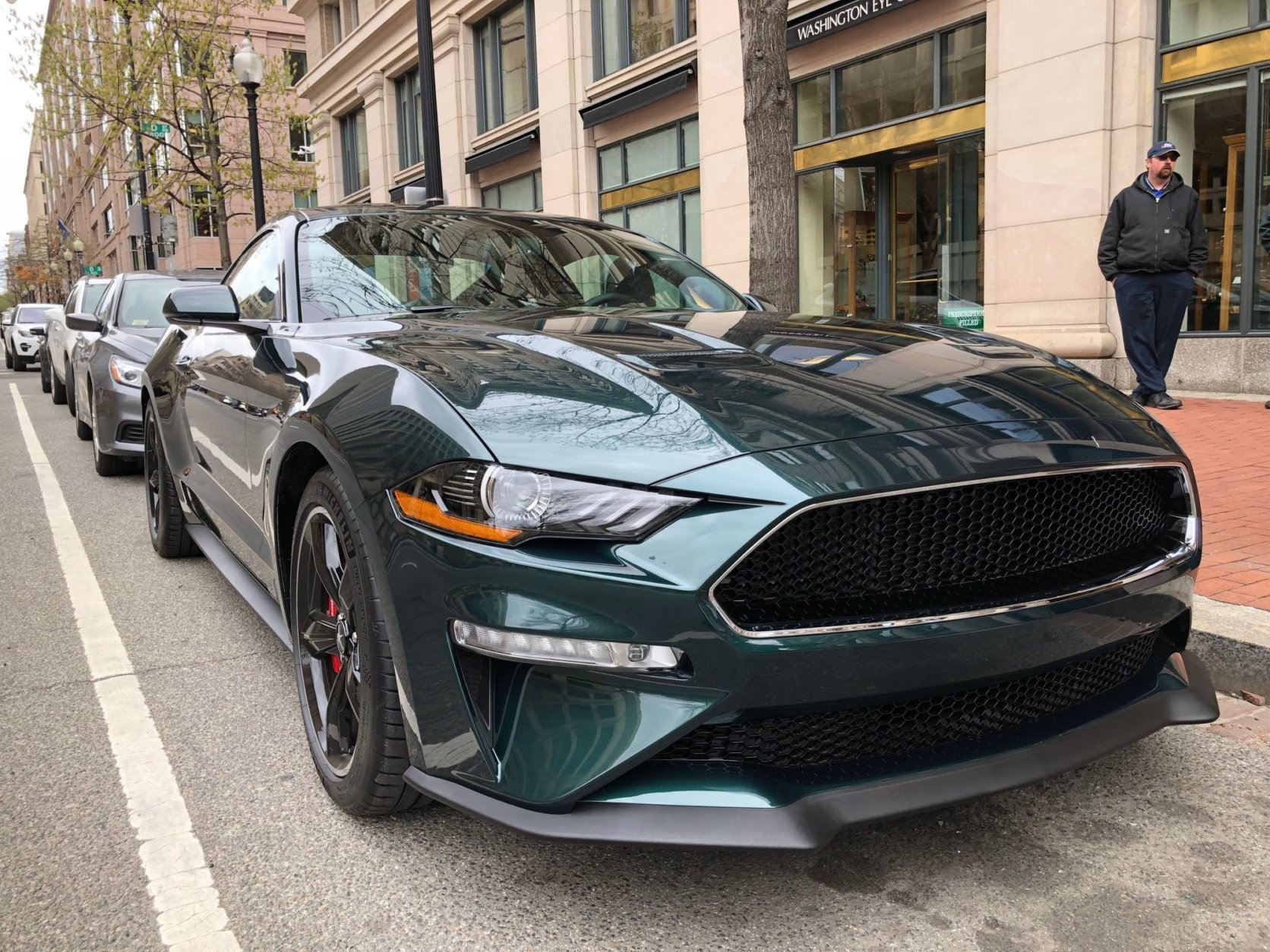 Pictured is the 2019 Mustang Bullitt, the latest commemorative edition Mustang based on the movie car. (WTOP/John Aaron)